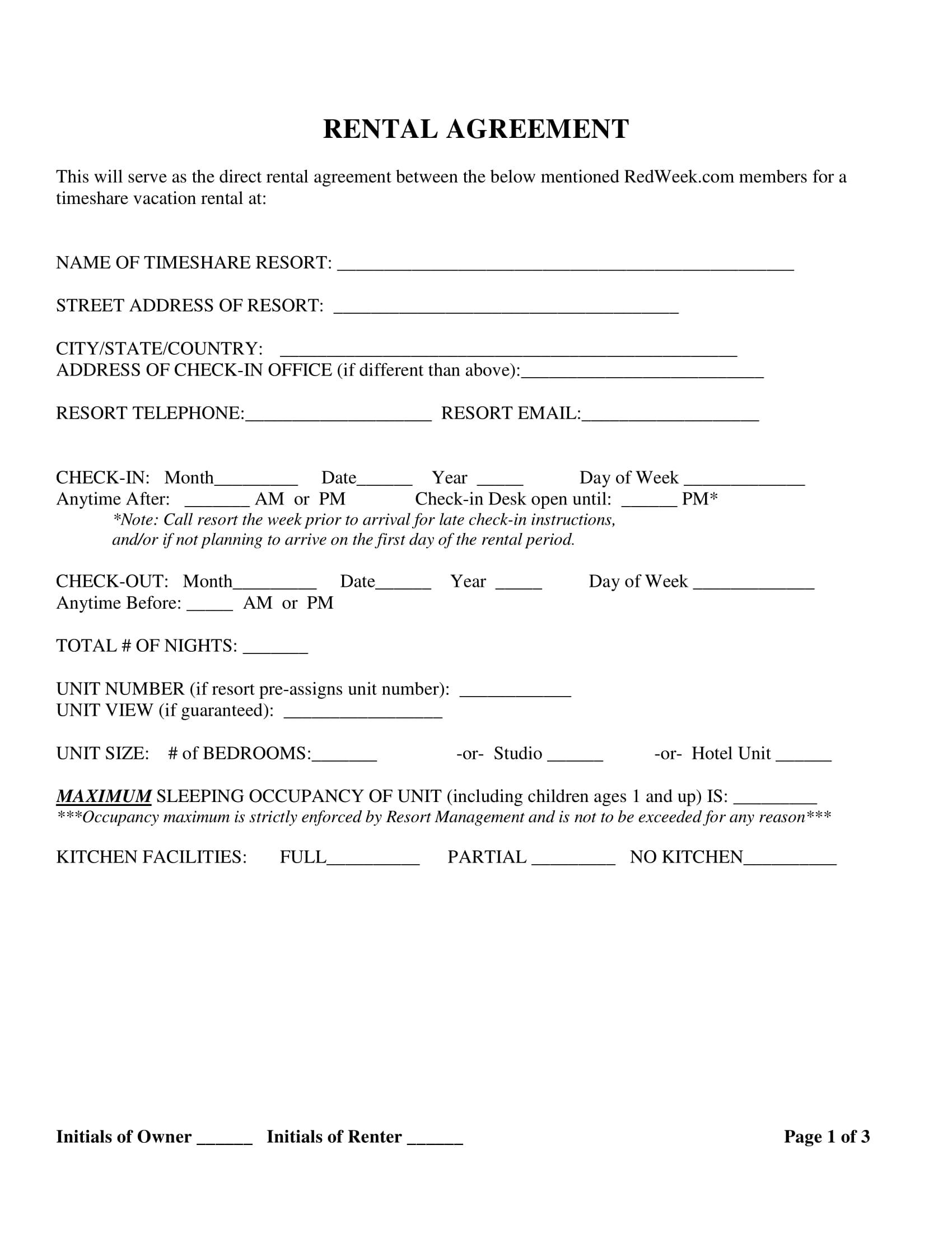 rw sample rental agreement