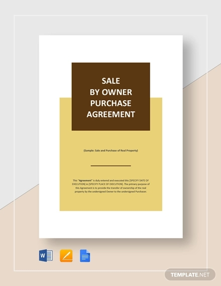 sale by owner purchase agreement