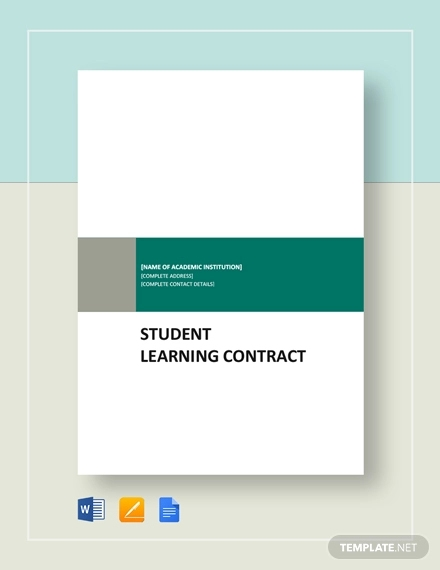 student learning contract