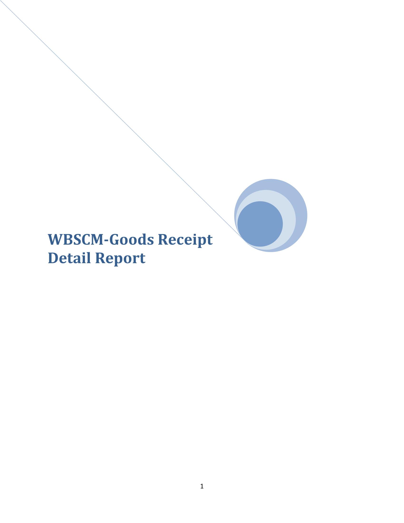wbscm goods receipt detail
