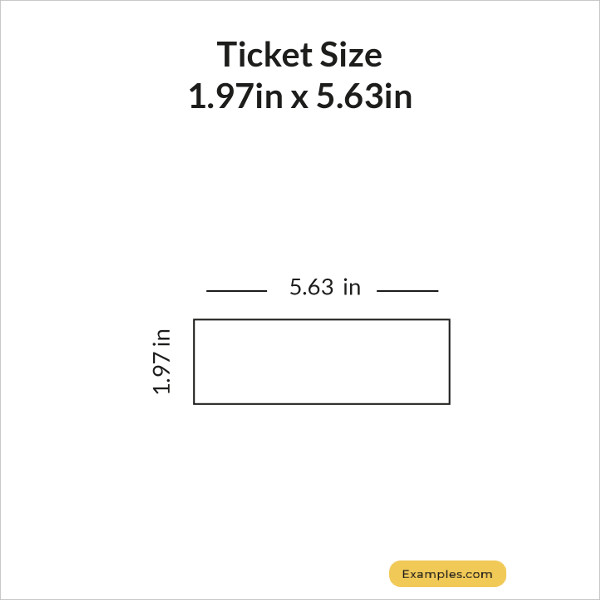 1.97 × 5.63 Ticket