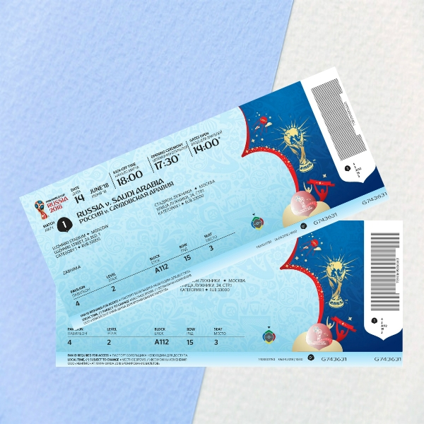 2018 fifa world cup event ticket