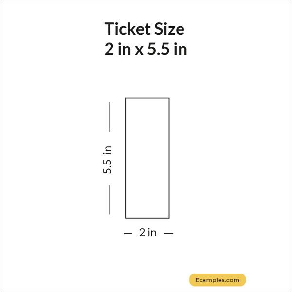 2 × 5.5 Ticket