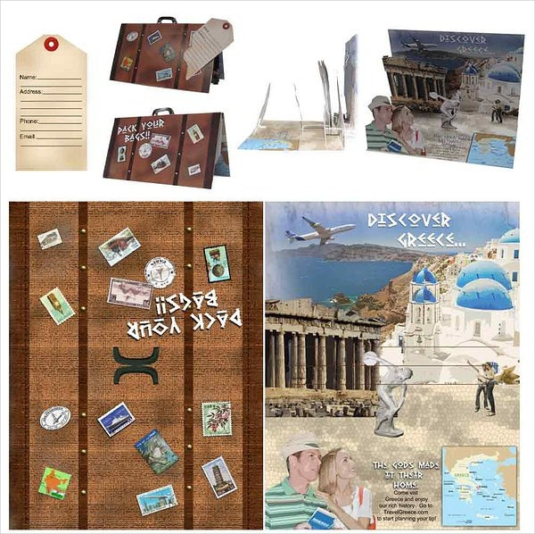 3D Greece Travel Brochure