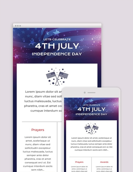 4th of july email newsletter