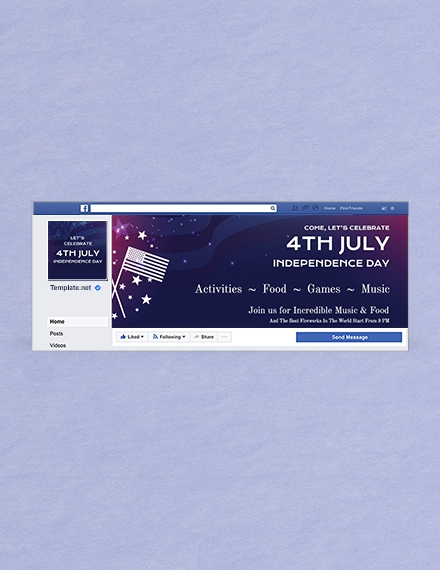 4th of july facebook cover template1
