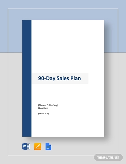 90 day sales plan template