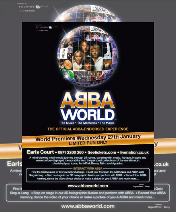 ABBAWorld Premiere Debut Music Flyer