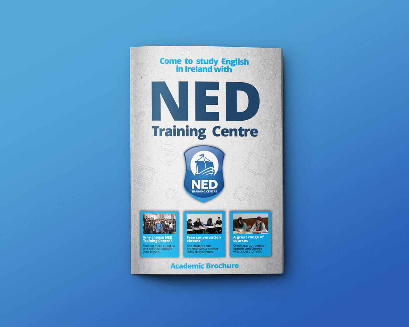Academic or Educational Brochure For Training Center Example