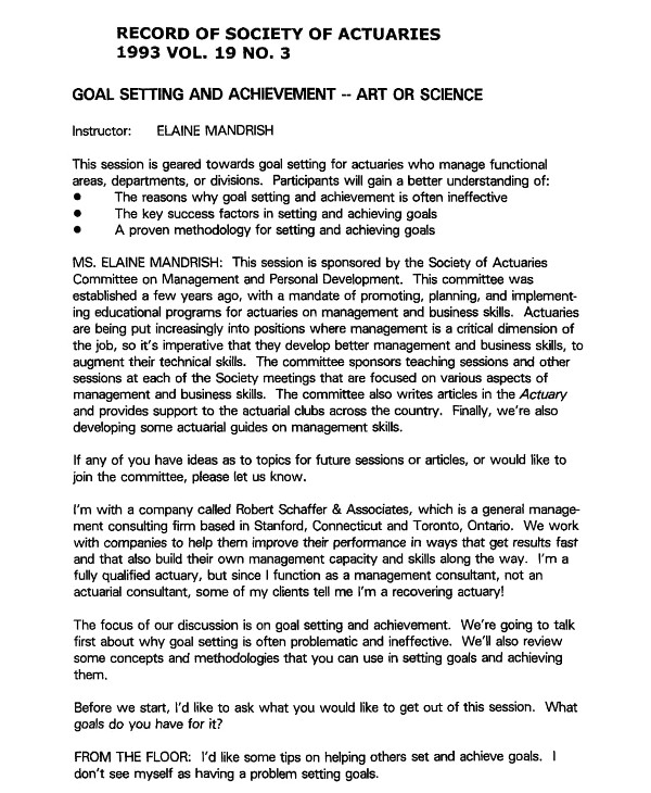 actuaries business goal setting example1