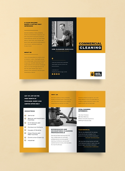 advertising commercial cleaning brochure template