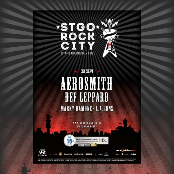 Aerosmith Concert Music Flyer