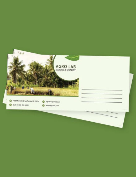 agriculture envelope template
