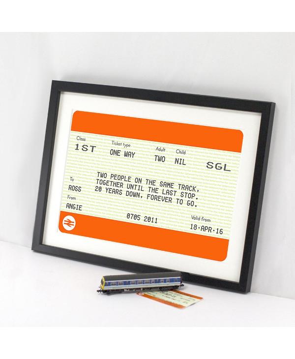anniversary train ticket example