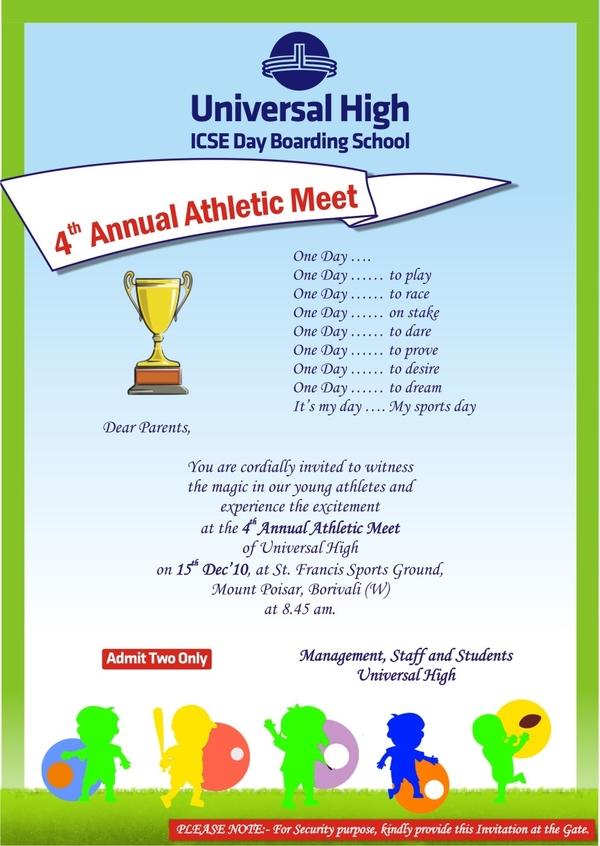 annual athletic meet invitation