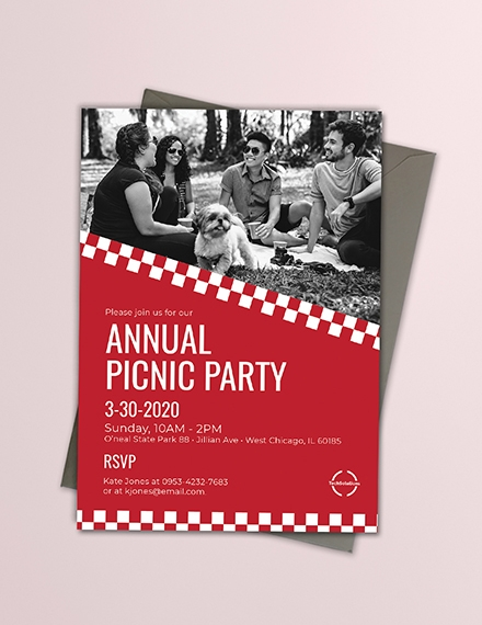annual corporate picnic invitation template