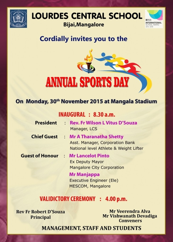 annual sports day invitation