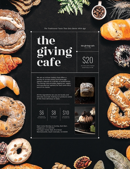 artisan bakery poster template
