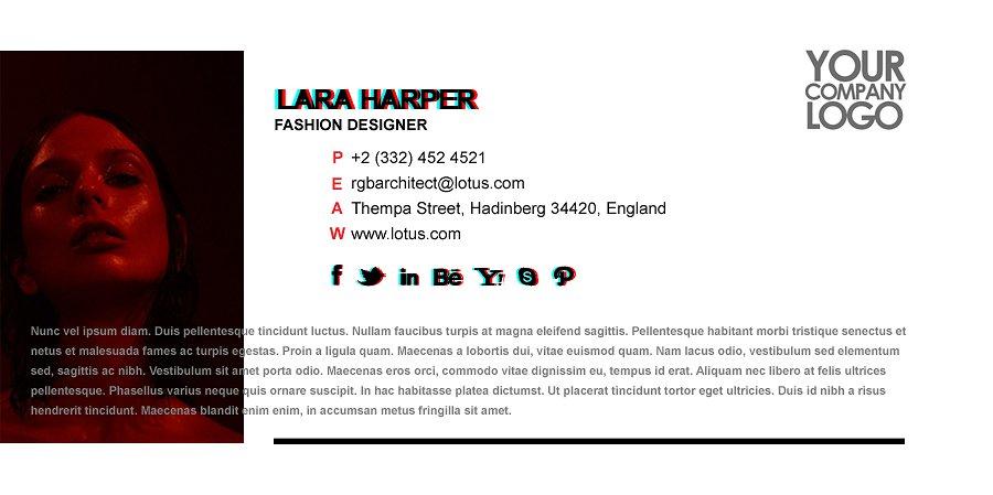 artistic email signature example