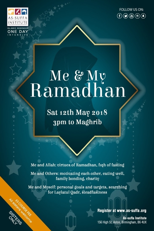 as suffa institute ramadhan poster