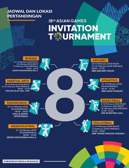 asian games sports tournament invitation