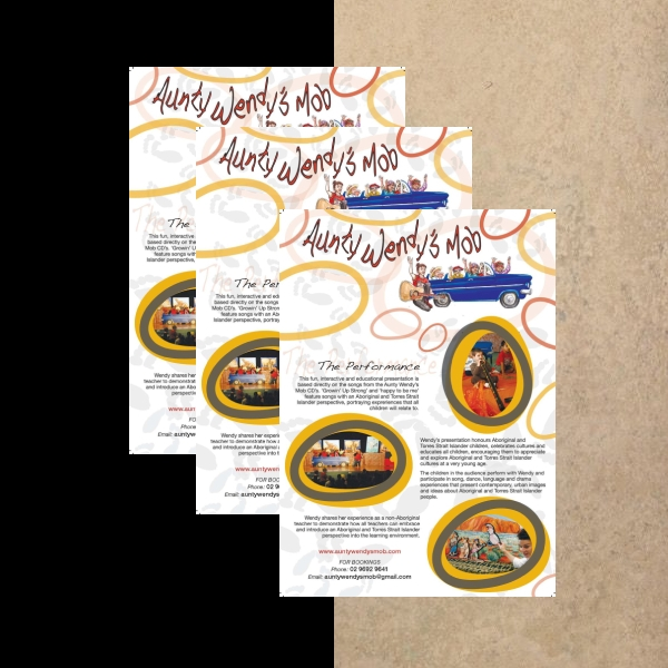 Aunty Wendy's Business Flyer Example