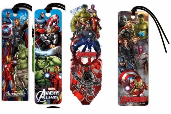 avengers themed bookmark