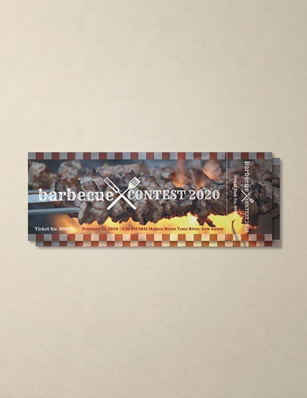 bbq event ticket