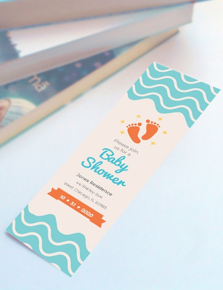 baby shower bookmark template