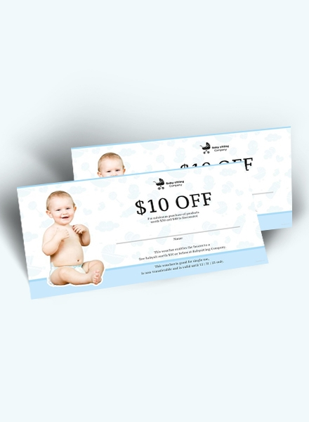 babysitting gift voucher design