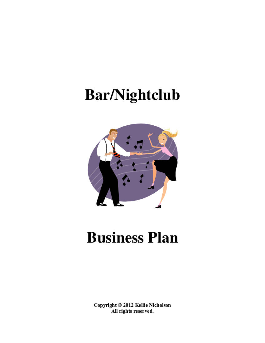 bar and nightclub business plan example