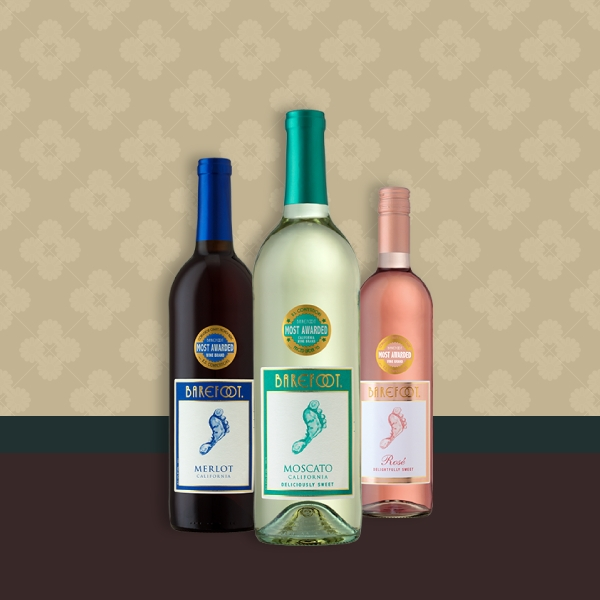 barefoot wine label