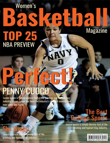 Basketball Magazine Cover Design