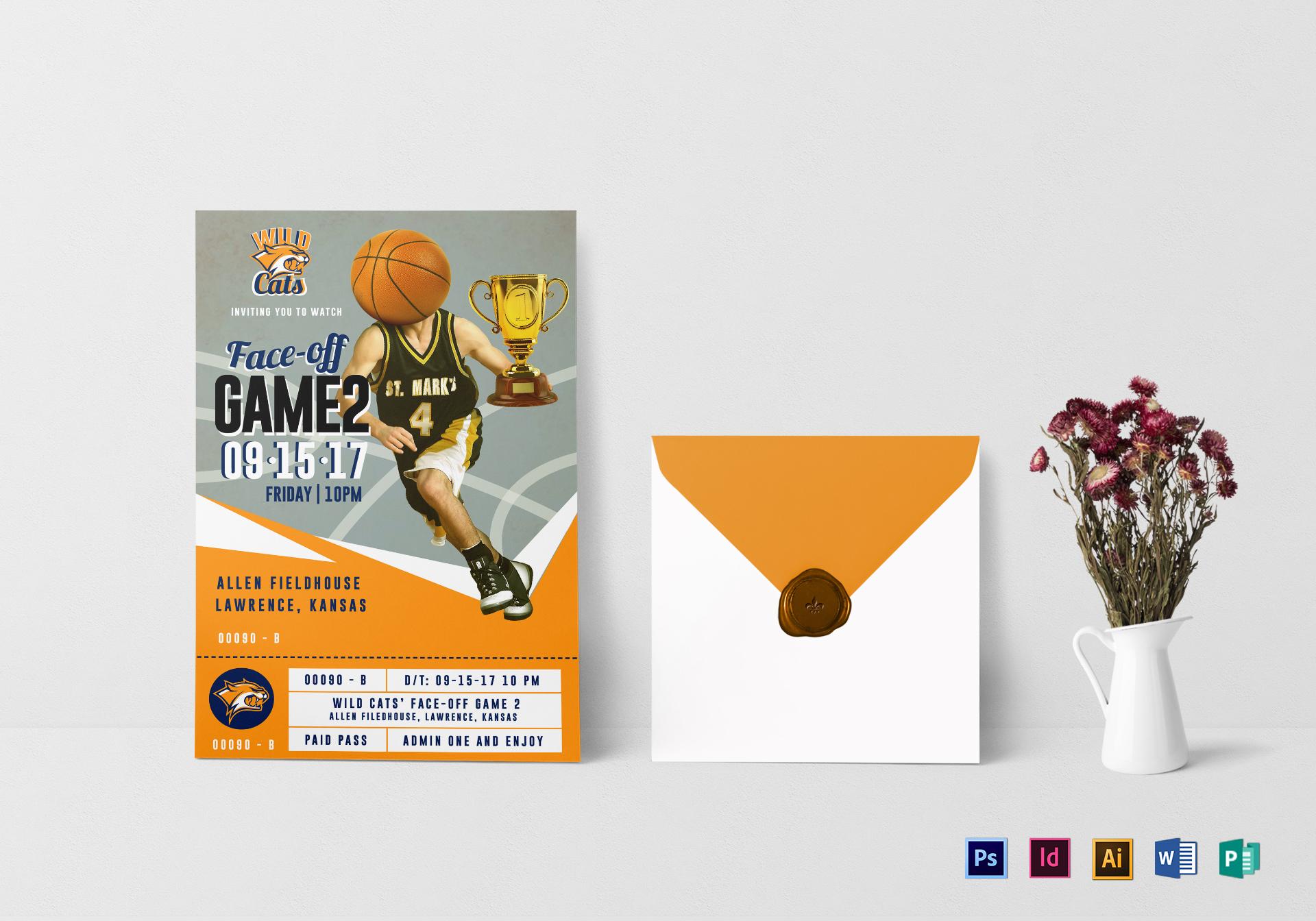 basketball ticket invitation