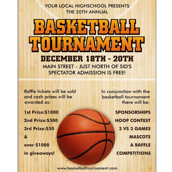 basketball tournament sports invitation