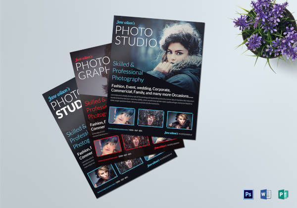 beautiful creative photography flyer template