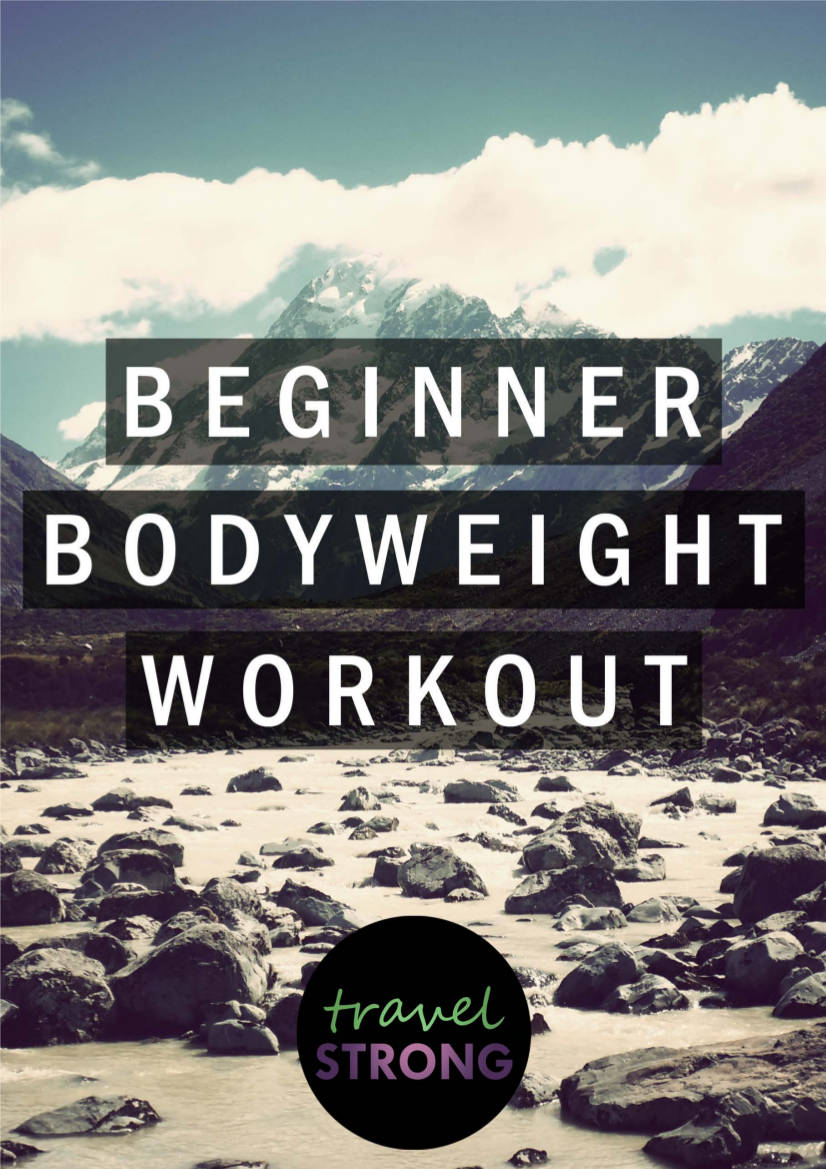 beginner bodyweight workout planner example