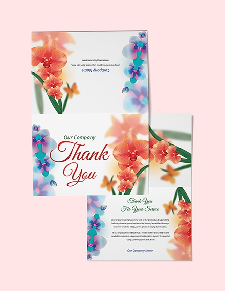bi fold thank you card templates