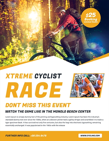 bicycle racing flyer design
