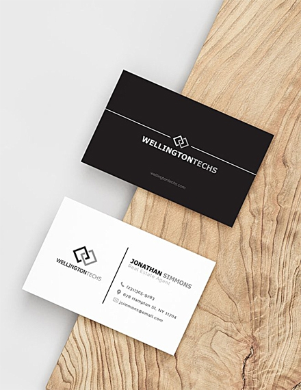 blank business card example
