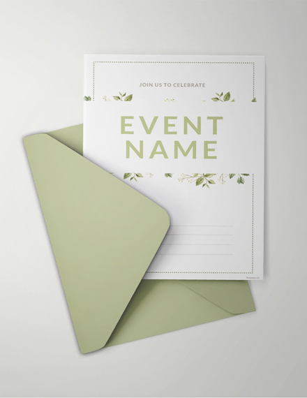 blank event invitation