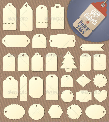 blank gift tag design