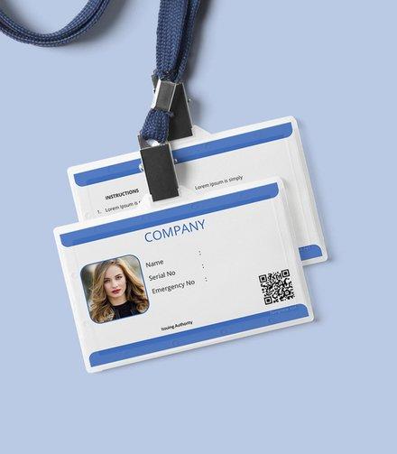 blank id card template mockup