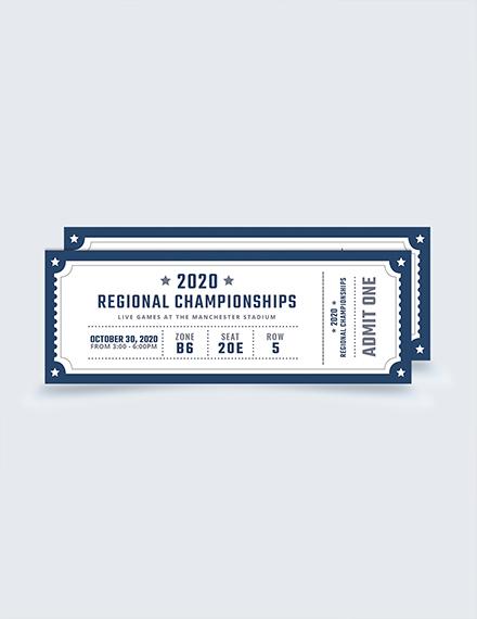Blank Sports Ticket