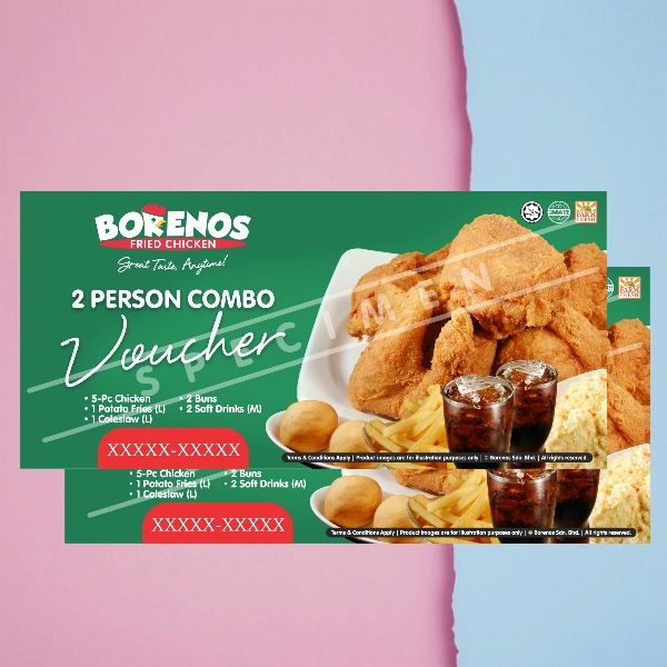 borenos fried chicken gift voucher