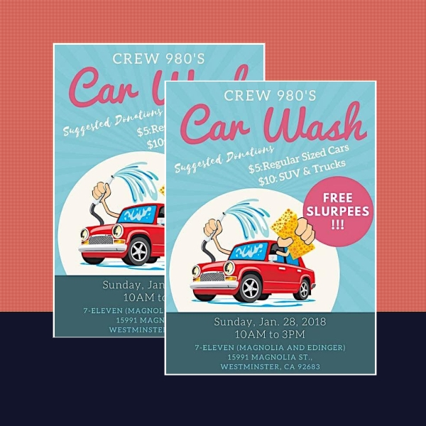 boy scout car wash flyer