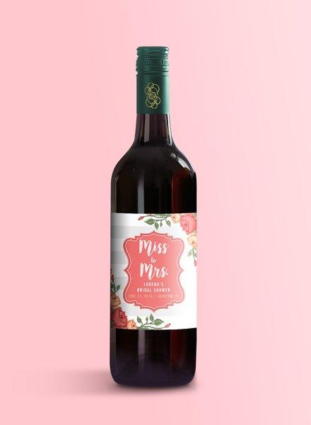 bridal shower wine label