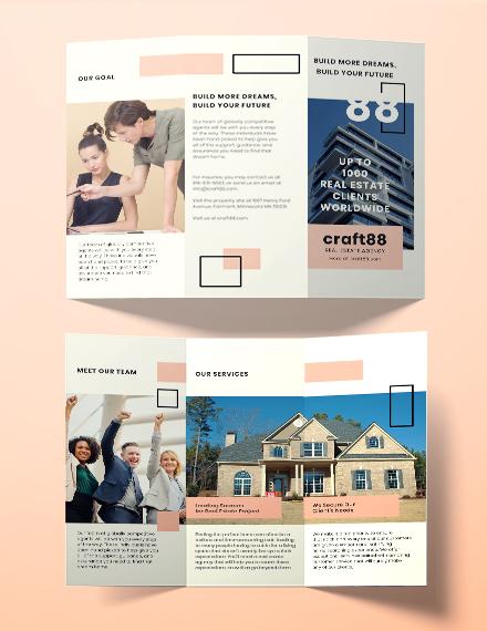 brochure real estate agency