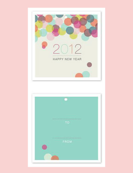 Bubbly New Years' Gift Tags