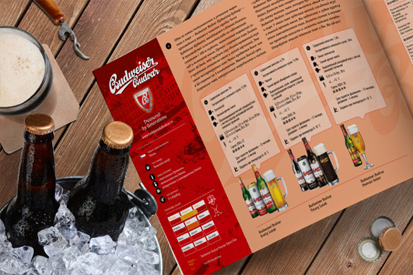 budwiser beer catalog example